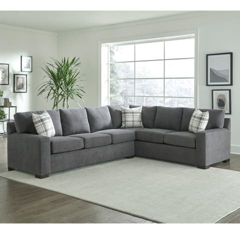 Gerard Grey Sectional Sofa Bed with Queen Gel Memory Foam Mattress