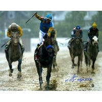 Victor Espinoza signed 11x14 Photo 2015 Preakness Horse Racing Triple Crown Steiner Holo