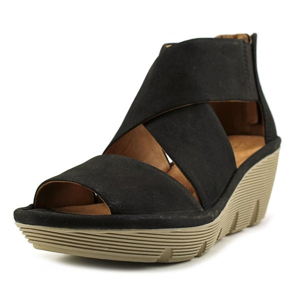 5de1d4b508f Shop Clarks Clarene Glamor Open Toe Leather Wedge Sandal - Free ...