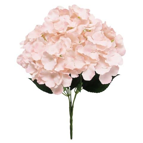 """Pastel Hydrangea Flower Stems Bush Bouquet 19in - 19"""" L x 12"""" W x 12"""" DP"""