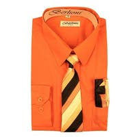 e9f24e09a Shop Gioberti Big Boys Orange Tie Bow Tie Handkerchief Dress Shirt 4 ...