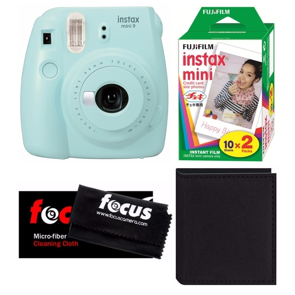 Shop Fujifilm Instax Mini 9 Ice Blue With 2 Pack Film Photo
