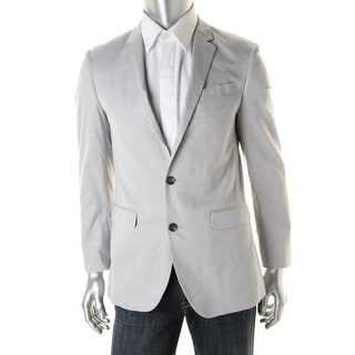 Kenneth Cole New York Mens Twill Slim Fit Two-Button Blazer - 38s