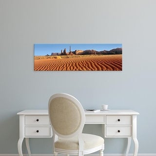 Easy Art Prints Panoramic Images's 'Rock formation in an arid landscape, Monument Valley, Utah, USA' Canvas Art