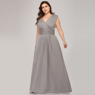 Ever-Pretty Womens  Empire Waist Elegant Plus Size Long Evening Wedding Party Dance Dress 76612