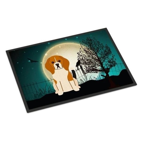 Carolines Treasures BB2230MAT Halloween Scary Beagle Tricolor Indoor or Outdoor Mat 18 x 0.25 x 27 in.