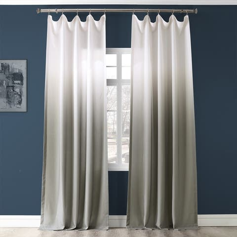 Exclusive Fabrics Ombre Faux Linen Semi Sheer Curtain (1 Panel)