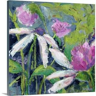 Pamela J. Wingard Premium Thick-Wrap Canvas entitled Flower Fields Lavender