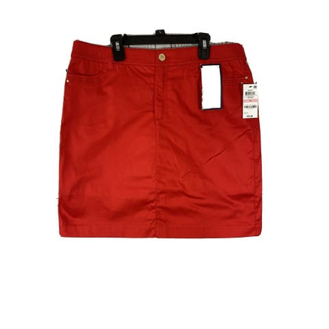 CHARTER CLUB Womens Red Above The Knee Skort Size 12