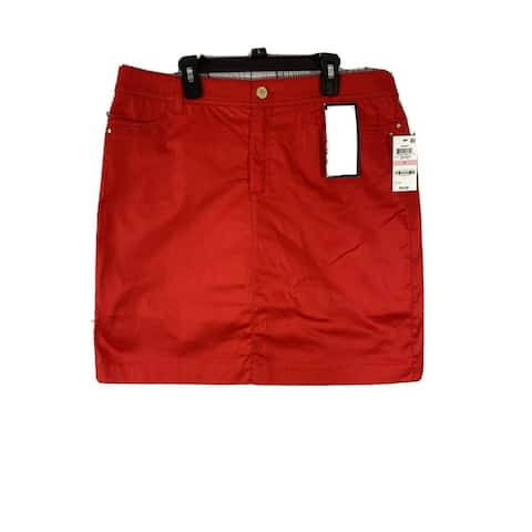 CHARTER CLUB Womens Red Above The Knee Skort Size 14