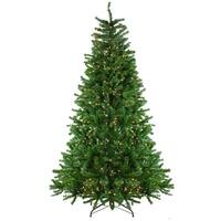 7.5' Pre-Lit Waterton Spruce Slim Artificial Christmas Tree - Clear Lights - green