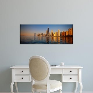 Easy Art Prints Panoramic Images's 'Buildings on the waterfront, Chicago, Illinois, USA' Premium Canvas Art