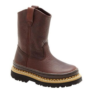 Georgia Boot Children's G20 Little Georgia Giant Wellington Soggy Brown Leather