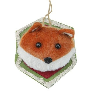 "Link to 4.75"" Brown and Cream Stuffed Fox Head Plaque Christmas Ornament Similar Items in Christmas Decorations"