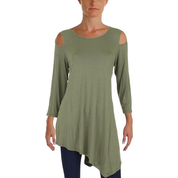 1d9a2a54703678 Shop Alison Andrews Womens Tunic Top Jersey Asymmetrical - Free Shipping On  Orders Over $45 - Overstock - 23177876