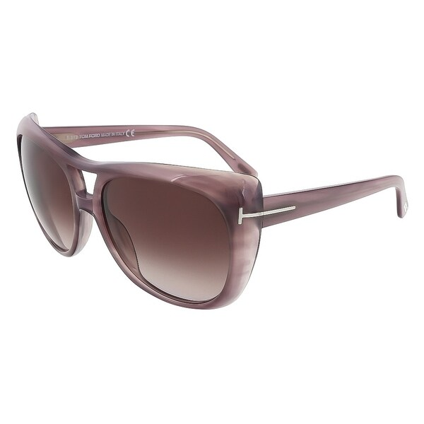 Tom Ford TF 294/S 83Z Claudette Purple Gradient Aviator Sunglasses - purple gradient - 59-16-135