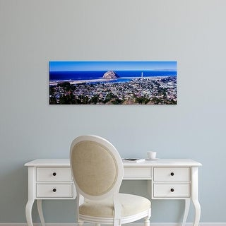 Easy Art Prints Panoramic Images's 'View of city at waterfront, Morro Bay, San Luis Obispo California' Canvas Art