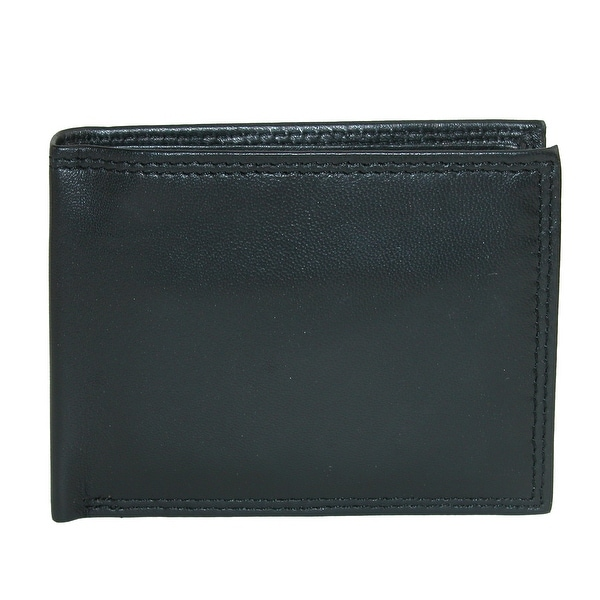 Buxton Men's Emblem Leather Double ID Bifold Wallet - One size