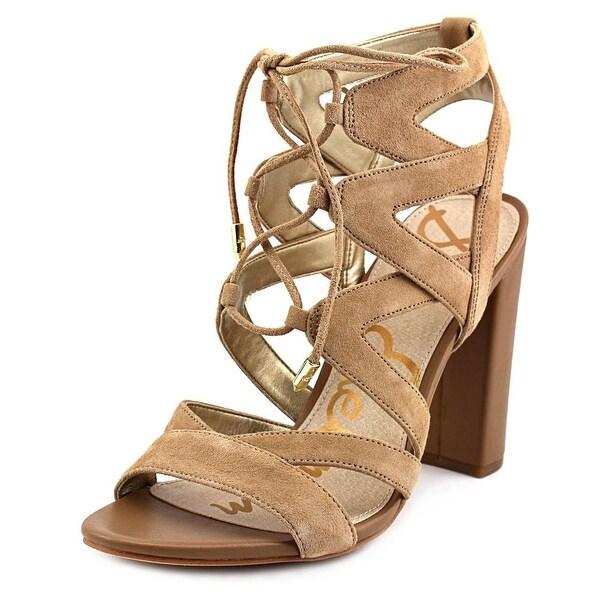 Sam Edelman Yardley Women  Open Toe Suede Brown Sandals