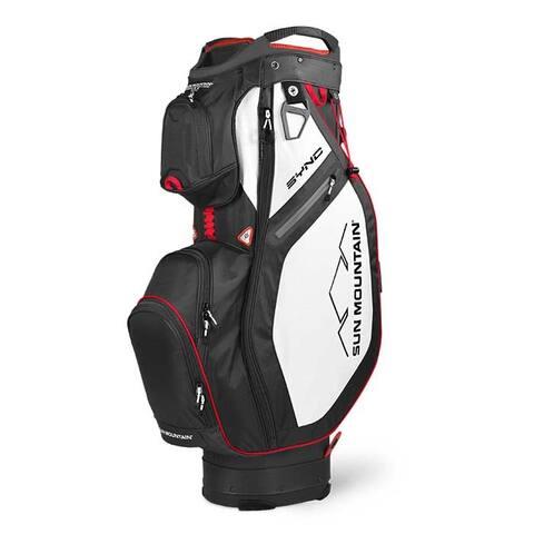 New 2020 Sun Mountain Sync Cart Bag - (Black / White / Red)