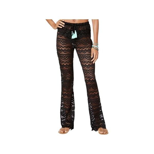 febcf85d79 Shop Miken Womens Crochet Scalloped Pants Swim Cover-Up - Free ...