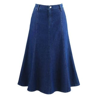 "Women's 8-Gore Denim Riding Maxi Skirt - 31.5"" Long
