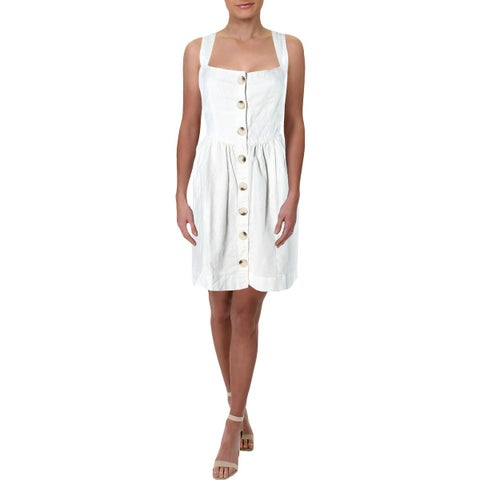 Free People Womens Carolina Mini Dress Linen Fit & Flare