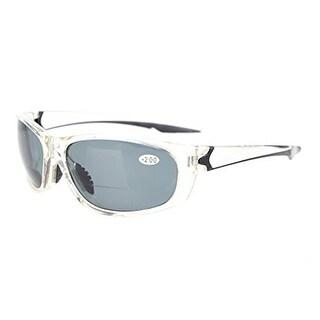 Eyekepper TR90 Unbreakable Sports Grey Lens Bifocal Sunglasses+1.5