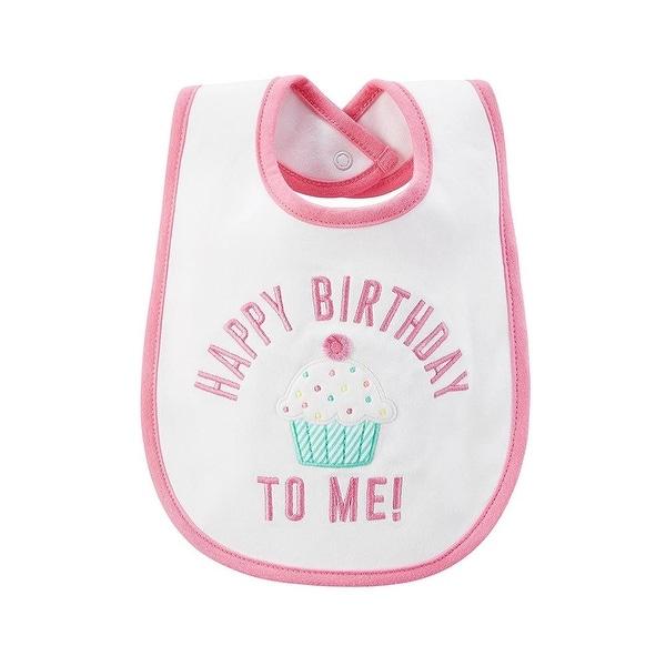 Carters Girls Happy Birthday Bib - Pink
