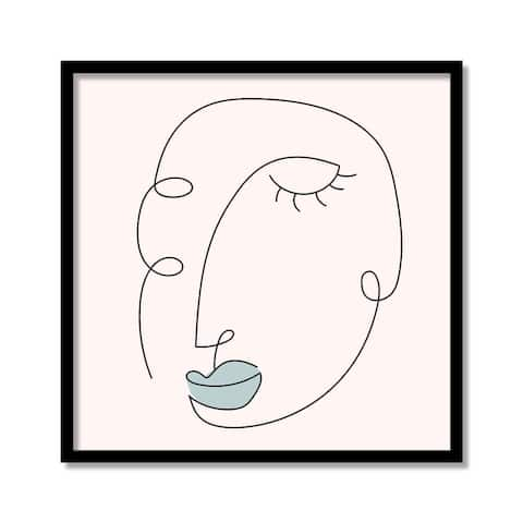 'Joie Contour VI' Framed Print Wall Art by ChiChi Décor