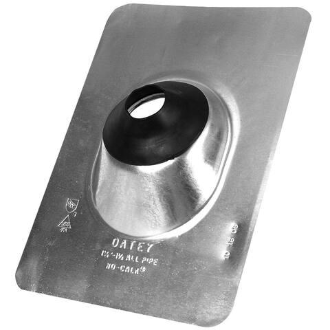 "Oatey 12923 Aluminum No-Calk Roof Flashing/Standard Base, 1.25"" â"" 1.5"""