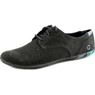 Merrell Mimix Maze Women Round Toe Leather Black Walking Shoe