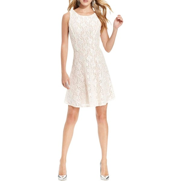 Shop Speechless Womens Juniors Semi Formal Dress Lace Glitter Free