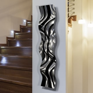 Statements2000 Modern Abstract Metal Wall Art Accent Sculpture Decor by Jon Allen - Large Pattern Wave