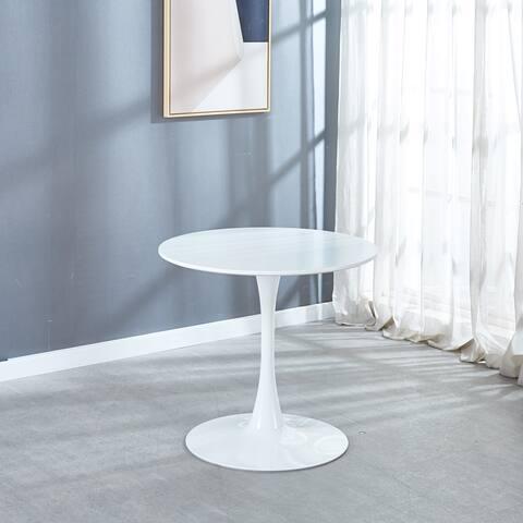 Nestfair MDF Top Dining Table whit Metal Legs