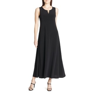 Calvin Klein Women S Dress Black Size XS Maxi Ring Hardware Keyhole