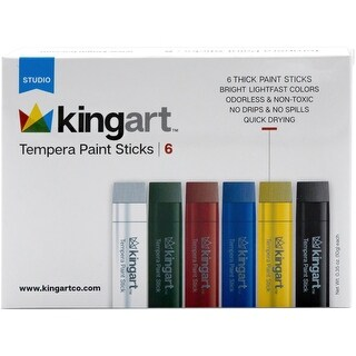 Tempera Paint Stick Set 6/Pkg-