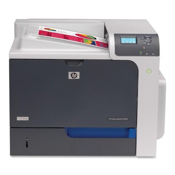 HP Color LaserJet Enterprise CP4025dn Printer - Black/Silver  CC490A