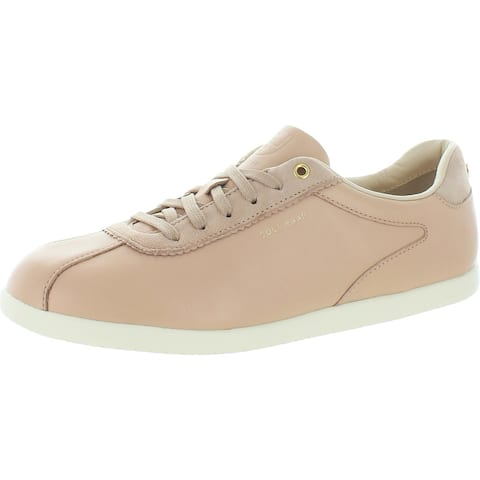 Cole Haan Grandpro Turf Women's Leather Lace-Up Low Top Sneakers - Mahogany Rose/Ivory