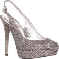 Adrianna Papell Rita Slingback Evening Sandals, Pewter