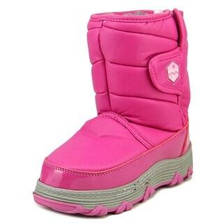 Khombu Magic Youth Round Toe Synthetic Pink Winter Boot