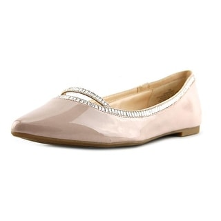 Nine West My Mirage Women Pointed Toe Synthetic Nude Flats