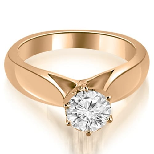 1.00 cttw. 14K Rose Gold Cathedral Solitaire Diamond Engagement Ring