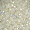 True2 Czech Fire Polished Glass, Faceted Round 2mm, 50 Pieces, Crystal Green Rainbow - Thumbnail 0