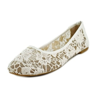 Lucky Brand Elisabeta Women Round Toe Canvas White Flats