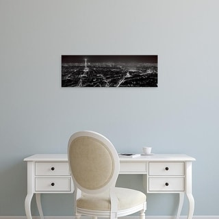Easy Art Prints Alan Blaustein's 'Paris By Night' Premium Canvas Art