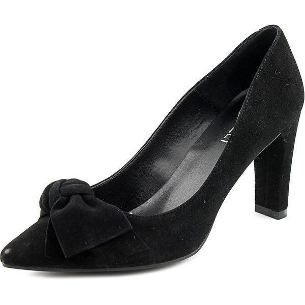 Vaneli Toro Women Pointed Toe Suede Black Heels