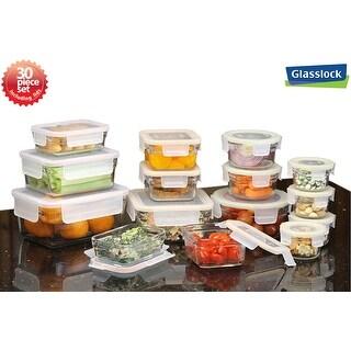 Glasslock 30-Piece Rimless Food Storage Container Set