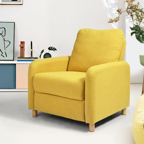 Furniture R Modern Polyester Solid Color Recliner