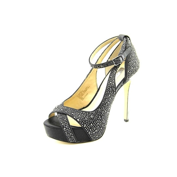 INC International Concepts Minxe 2 Open-Toe Canvas Heels
